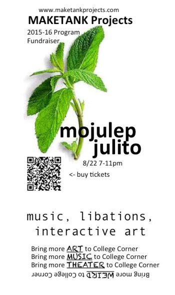 Mojulep Julito - You are invited. Saturday August 22, 2015. 7-11 PM